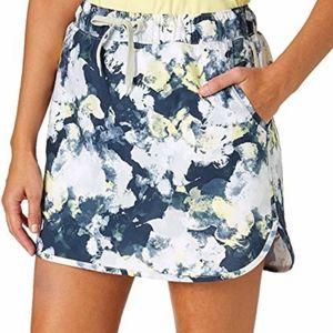 Navy Blue Camo Printed Golf Skirt